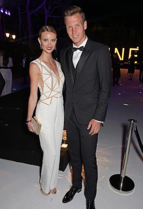 Tomas Berdych with his wife Ester Satorova