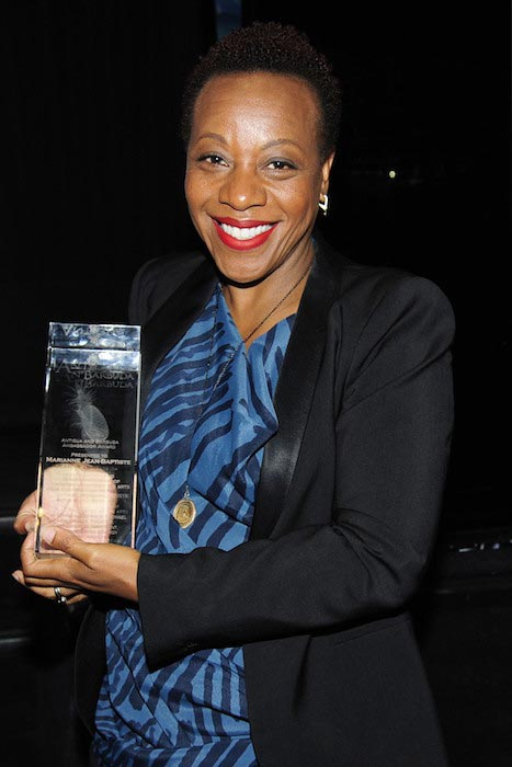 Twin Island Nation presents Marianne Jean-Baptiste with Honorary Tourism Award at Crosby Street Hotel in NYC on June 1, 2016