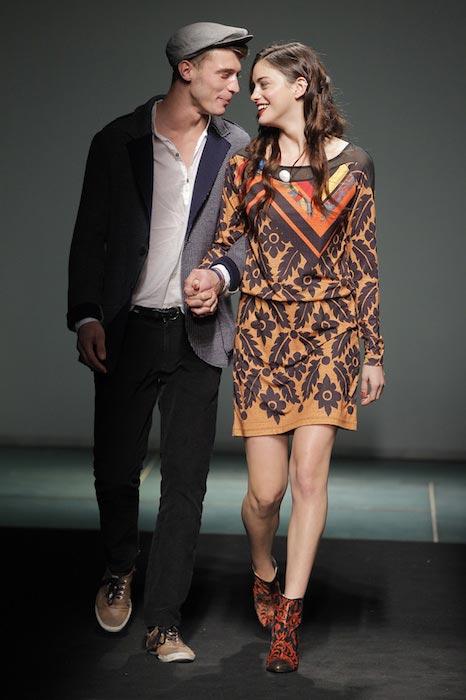 Alejandra Alonso and Clement Chabernaud Desigual 2013-2014 Fashion show