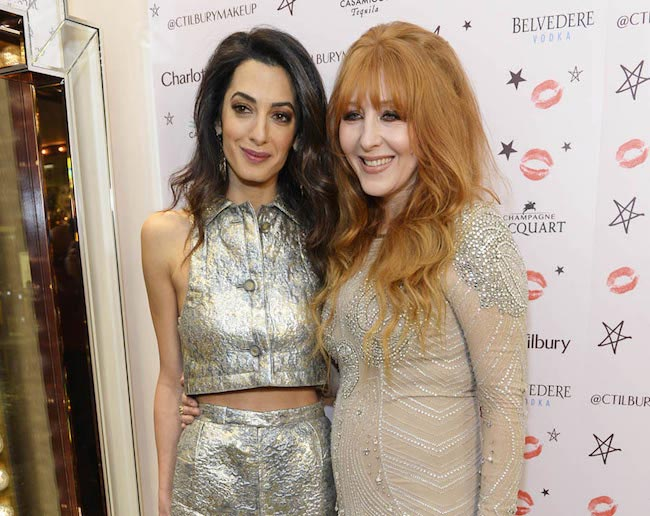 Amal Clooney and Charlotte Tilbury as seen on December 4, 2015