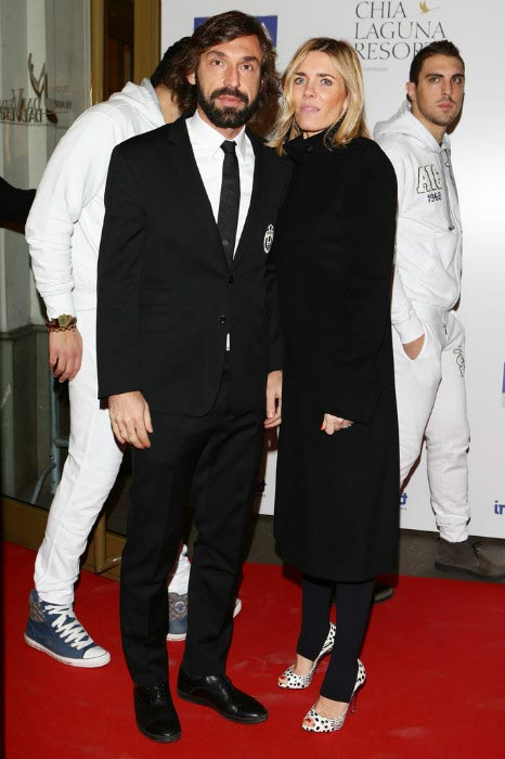 Andrea Pirlo with ex-wife Deborah Roversi at the Gran Gala del Calcio Aic football awards ceremony on January 27, 2013 in Milan, Italy
