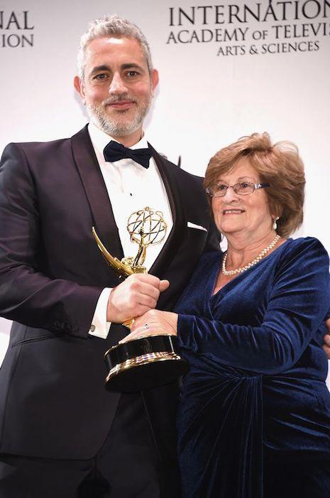 Baz Ashmawy with his Emmy award