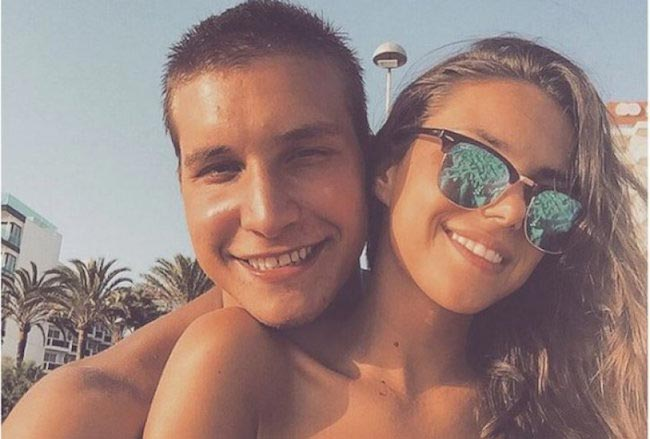 Bogdan Bogdanovic and Anja Skuletic on a summer vacation