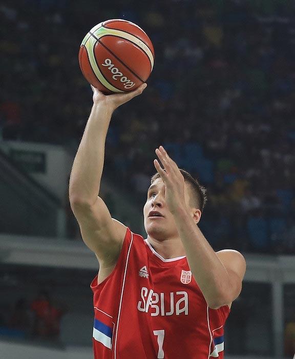 Bogdan Bogdanovic shooting the ball quarterfinal match Croatia August 17, 2016