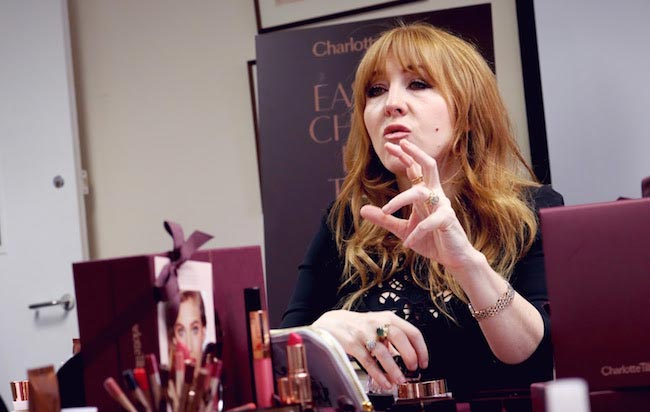Charlotte Tilbury speaking on makeup