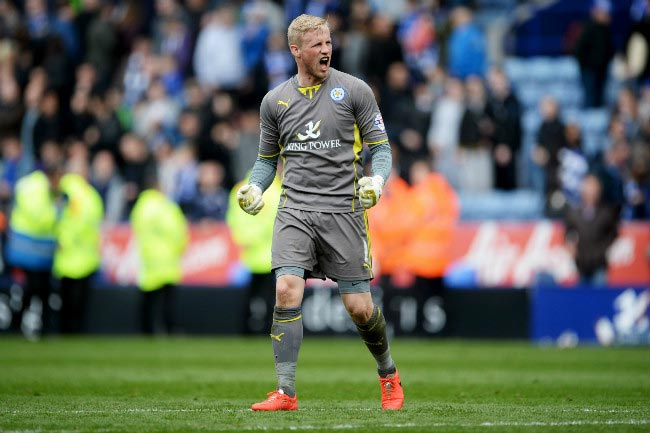 Danish goalkeeper Kasper Schmeichel clean sheet against QPR April 2014