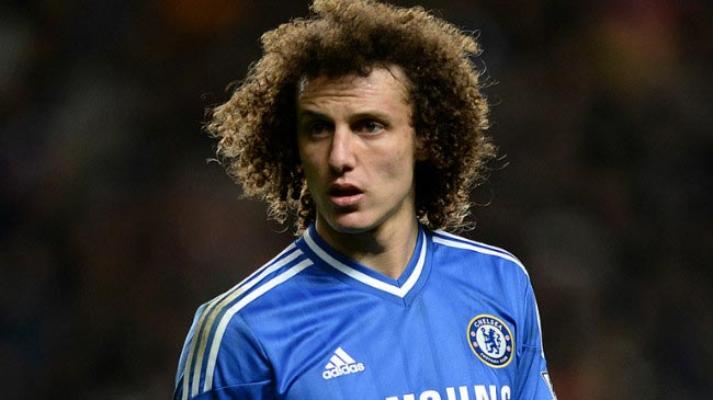 David Luiz pictured during away defeat to Crystal Palace in Premier League in April 2014