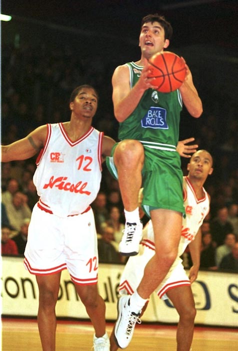 Dejan Bodiroga in action during his time with the Greek side Panathinaikos Athens