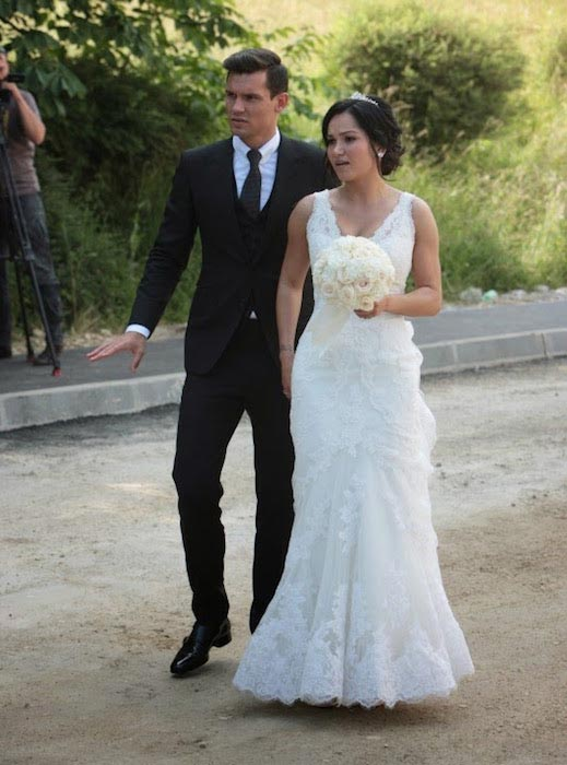 Dejan Lovren and Anita Lovren wedding day