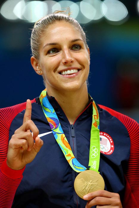 Elena Delle Donne medal ceremony 2016 Olympic Games Rio, Brazil August 20, 2016