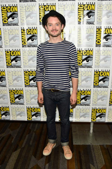 Elijah Wood at the press line for Dirk Gently during Comic-Con International in July 2016