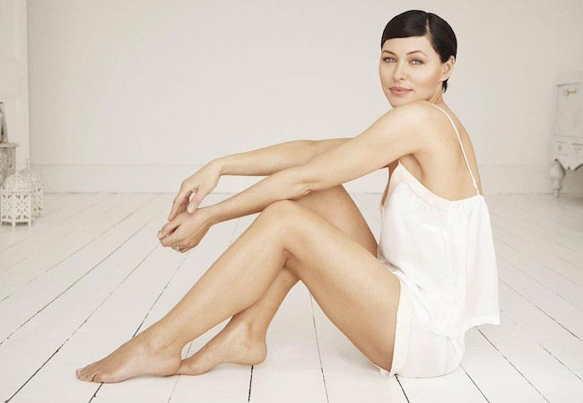 Emma Willis modeling shoot Gillette