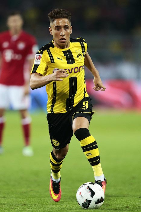 Emre Mor match between Borussia Dortmund and FC Bayern Munich August 14, 2016