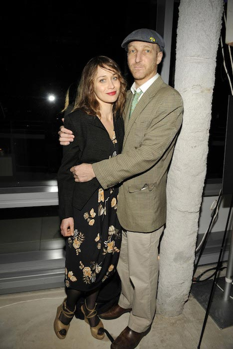 Fiona Apple with her former boyfriend Jonathan Ames in January 2012