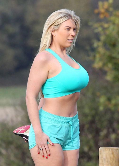 Frankie Essex during a workout in the park in Essex