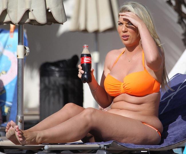 Frankie Essex enjoying cola before weight loss