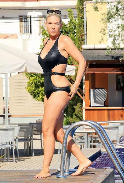 Frankie Essex black swimsuit 2016