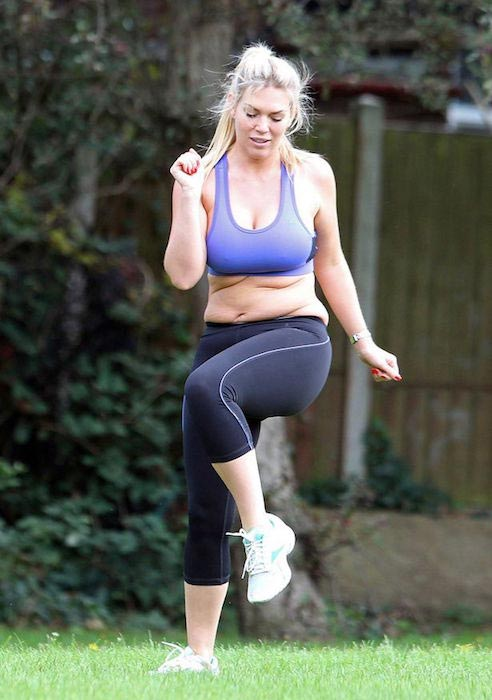 Frankie Essex working out for weight loss