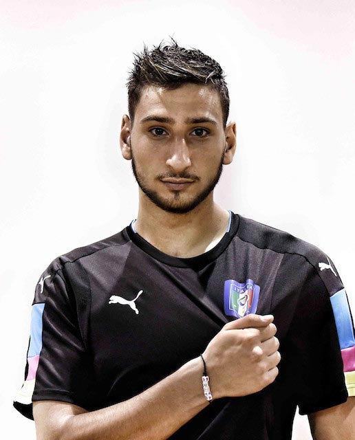 Gianluigi Donnarumma photoshoot Italy training session Coverciano August 30, 2016