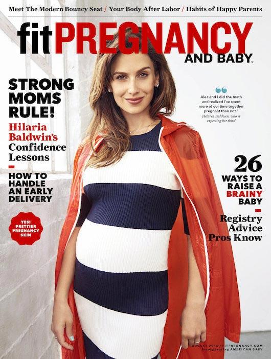 Hilaria Baldwin Fit Pregnancy Magazine August 2016