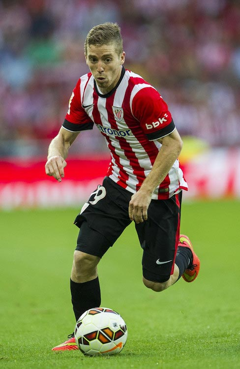 Iker Muniain ball match between Athletic Bilbao and Levante UD August 30, 2014