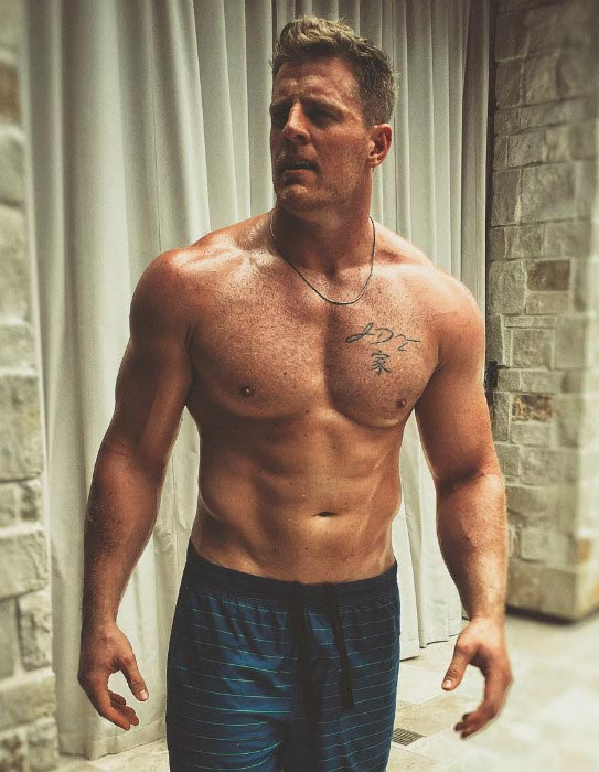 J. J. Watt shirtless body