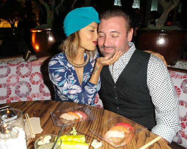 Jeannie Mai and husband Freddy Harteis Roku grand opening California November 14, 2015