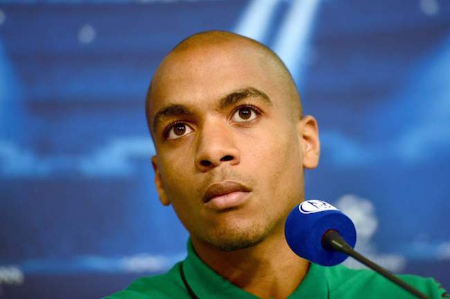 Joao Mario during a press conference for Sporting Lisbon