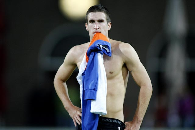 Kevin Strootman standing shirtless