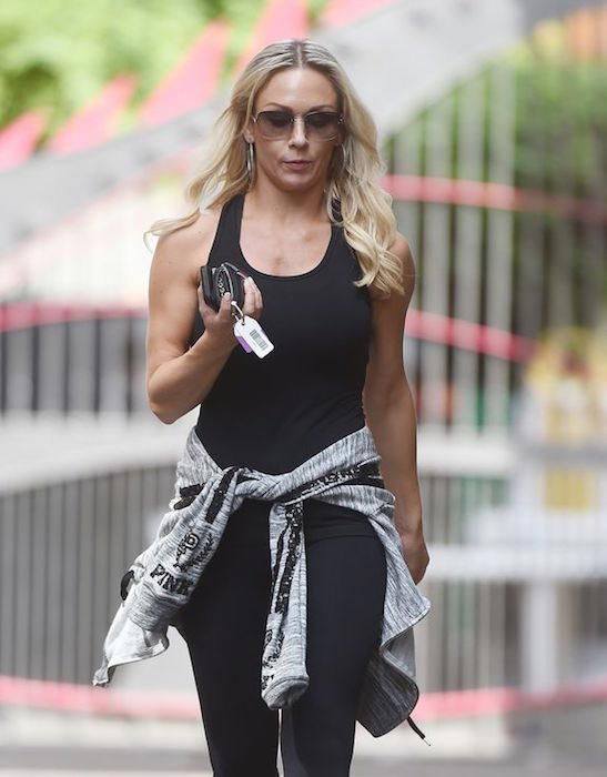 Kristina Rihanoff in her workout gear