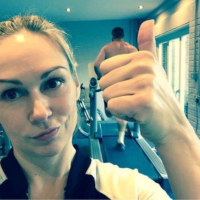 Kristina Rihanoff workout selfie
