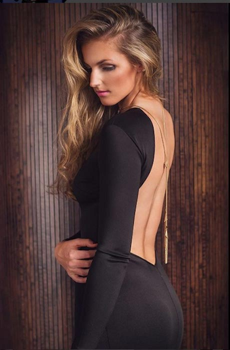 Kristyna Pliskova hot low back dress