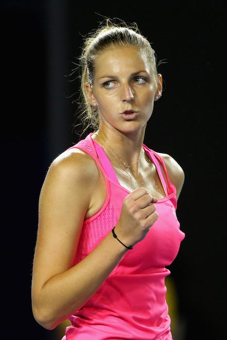 Kristyna Pliskova match against Sam Stosur 2016 Australian Open January 18, 2016 in Melbourne