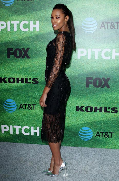"Kylie Bunbury at the premiere of ""Pitch"" in Los Angeles on September 13, 2016"