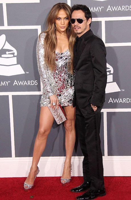 Marc Anthony and Jennifer Lopez at Grammy Awards