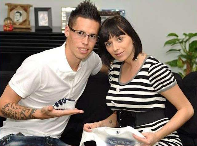 Marek Hamsik and Martina Franova