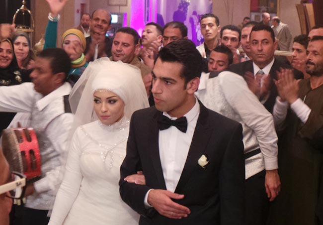 Mohamed Salah and Magy Salah wedding day