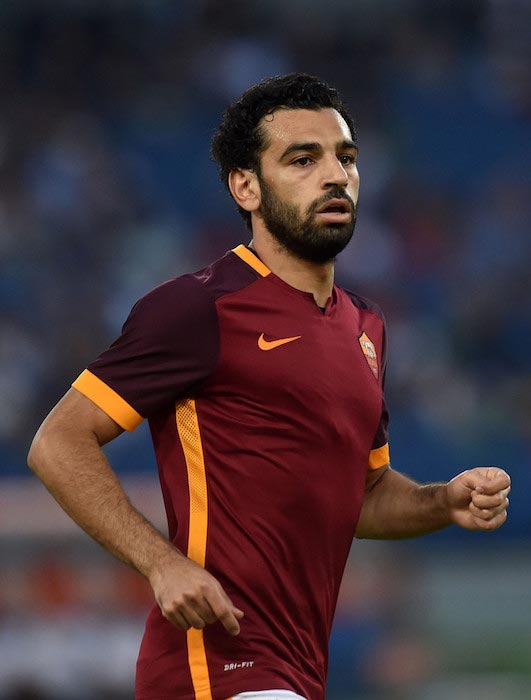 Mohamed Salah friendly match between AS Roma and Sevilla FC on August 14, 2015