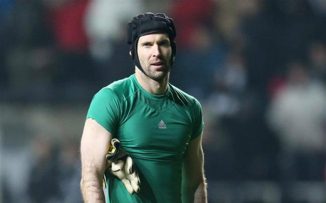 Petr Cech watches on after the end of Premier League away game for Chelsea in 2014