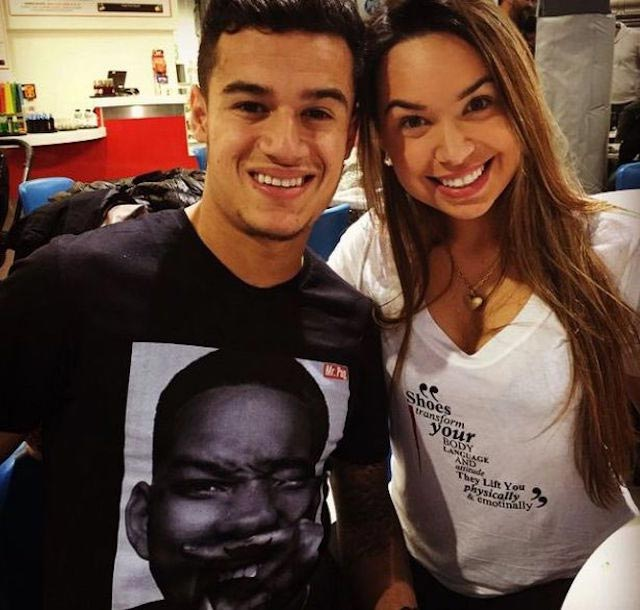 Philippe Coutinho and Aine Coutinho