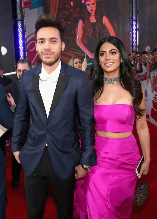 Prince Royce with Emeraude Toubia at 16th Latin Grammy Awards