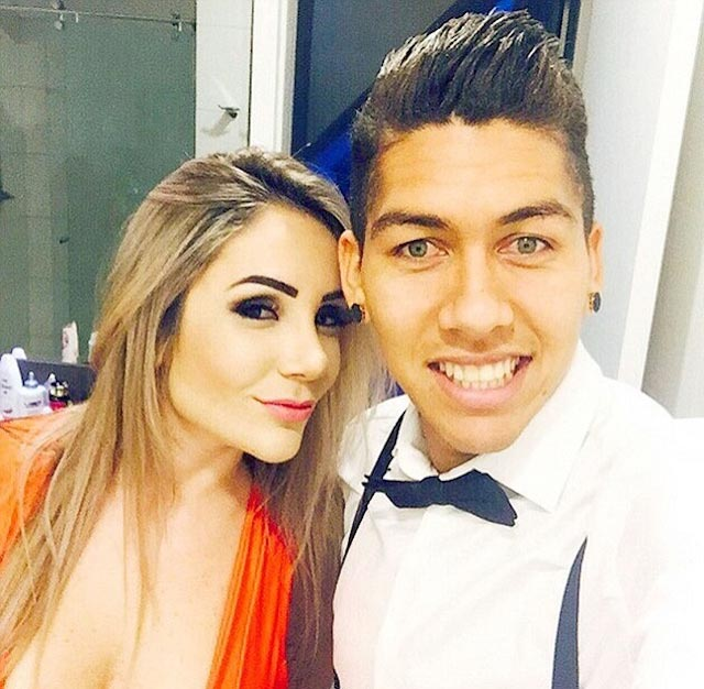Roberto Firmino and Larissa Pereira