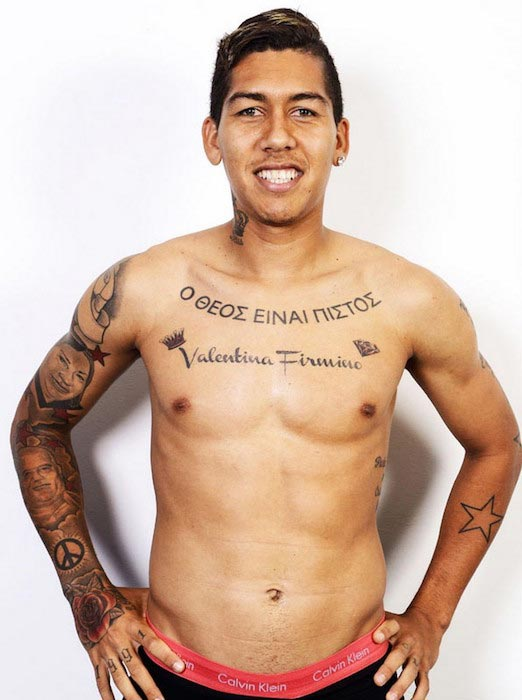 Roberto Firmino shirtless body