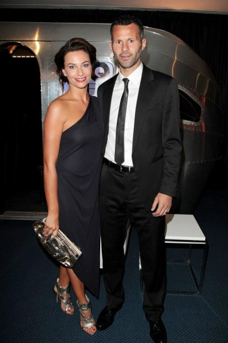Ryan Giggs and estranged wife Stacey Cooke during GQ Men of the Year Awards 2010