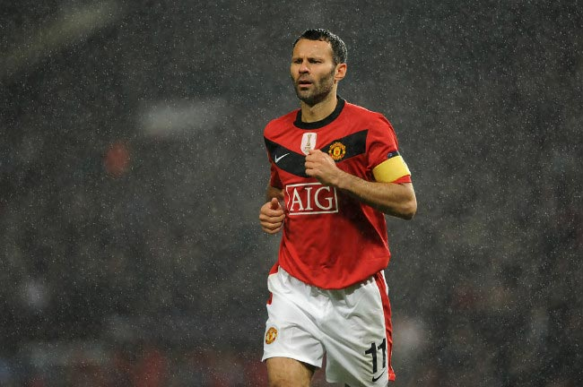 Ryan Giggs match between Manchester United and VfL Wolfsburg September 2009