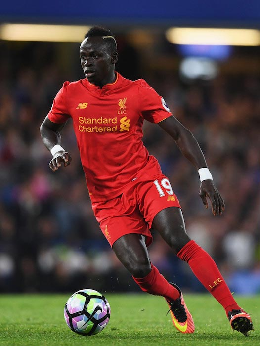 Sadio Mane Premier League match between Liverpool and Chelsea September 16, 2016