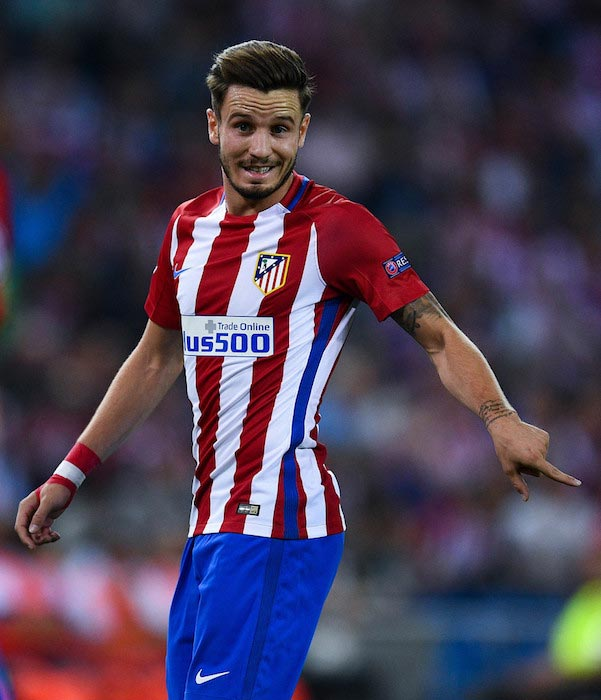 Saul Niguez during a match between Atlético Madrid and FC Bayern Munich on September 28, 2016