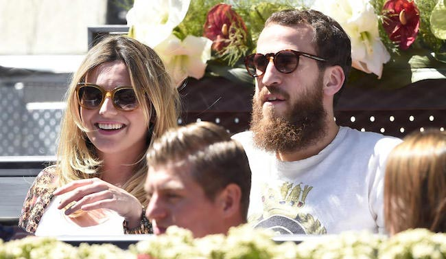 Sergio Rodriguez and Ana Bernal watching tennis match
