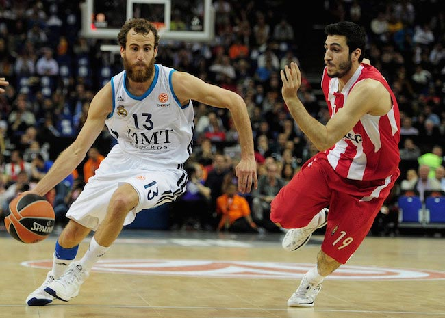 Sergio Rodriguez against Olympiacos Piraeus during 2013 EuroLeague Final Four finals on May 12, 2013 in London
