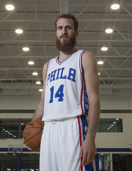 Sergio Rodriguez media day on September 16, 2016 in Camden, New Jersey